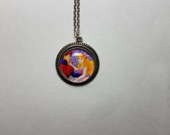 Sleeping Beauty cabochon necklace