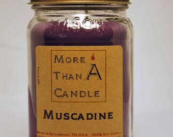 16 oz Muscadine Peach Soy Candle