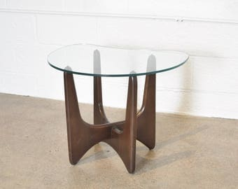 mid century side table, modern end table, beautiful Adrian Pearsall walnut sculptural end table, mid century modern, vintage