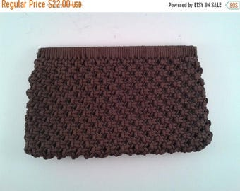HAPPY SUMMER SALE Vintage Brown Knotted Clutch