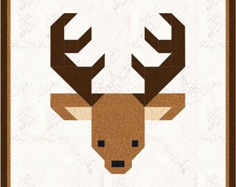 Christmas Santa's Reindeer Quilt Block Pattern PDF : deer quilt patterns - Adamdwight.com