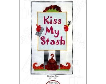 Kiss My Stash Wall Quilt Pattern by Sandy Fitzpatrick of Hissyfitz Designs