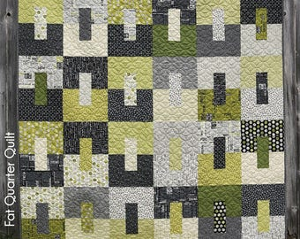 Teen Spirit Quilt Pattern by Gudrun Erla of GE Designs, a Fat Quarter Quilt