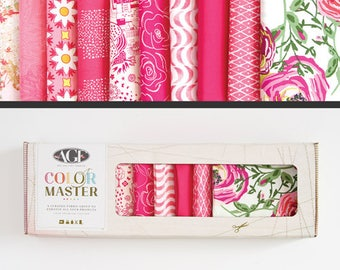 Art Gallery Fabrics, Color Master Collectors Box, Life Is Pink, FREE SHIPPING,  pink fabric bundle, bright pink fabric, modern blender