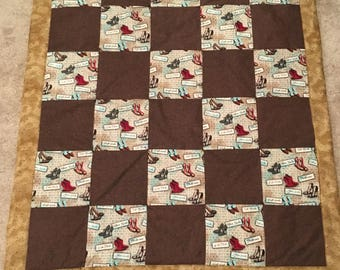 Brown shoe quilt