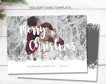 Merry Christmas Card, Photo Christmas Card for Photographers, Family Christmas Card with Photo, Merry Christmas Card Digital, Holiday, mc184