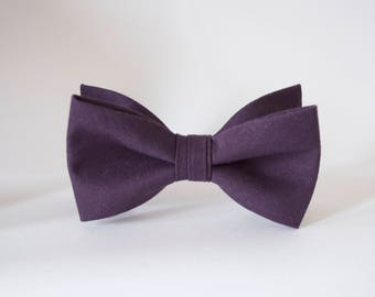 boys bow ties,eggplant cotton bow tie,kids bow ties