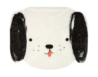 Dog Party Napkins (Set of 20) - Meri Meri Black and White Puppy Paper Napkins
