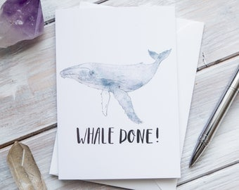 Whale Done! | Humpback Whale Pun Greetings Card
