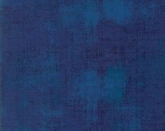 Moda Grunge Basics REGATTA Deep Blue Navy Mottled Background 30150-352 Fabric BTY