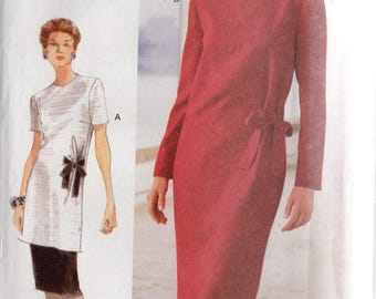 Vogue Woman Pattern 9922 DRESS TOP w/Bow & SKIRT Misses 14 16 18