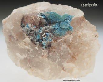 Shattuckite,mottramite,goethite and quartz-Kaokoveld plateau Namnibia