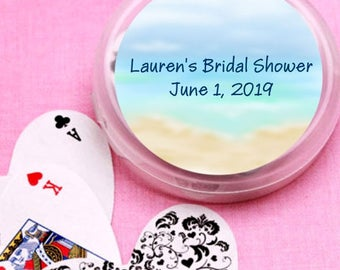 12 Beach Anniversary Bridal Shower and Wedding Deck of Cards Favors