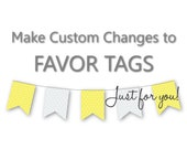 Make a CUSTOM CHANGE to Favor Tags In TheLittleDabbler Shop