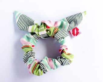 Lucy and Mabs Pinup Bow Scrunchie/ Hair Tie/ Heather Bailey