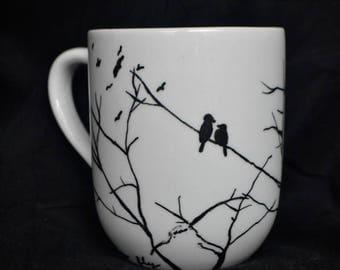 BlackBirds and Branches Mug