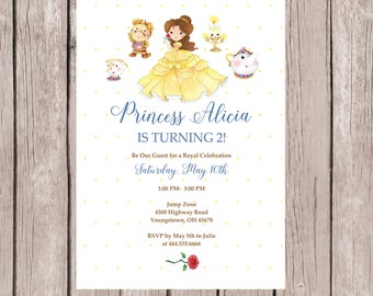 Beauty And The Beast Invitations, Beauty And The Beast Invite, Beauty And  The Beast
