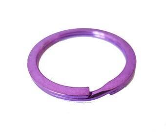 1x support anneau porte clef metal VIOLET