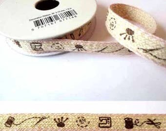 1.8 m x cotton fancy 10mm linen sewing/Pink Ribbon