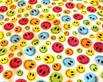 Coupon fabric smiley 50 x 70 cm