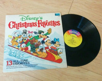 Vintage Disney Christmas Favorites Vinyl LP Record - 13 All Time Favorites, Donald Duck, Micky Mouse, Goofy