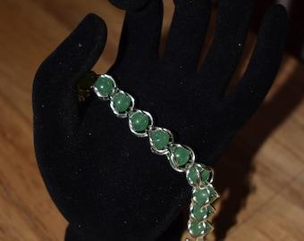 Captured bead bracelets