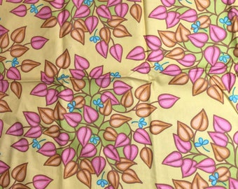 Soiree Lila Tueller Butter Yellow Floral Quilt Fabric 1/2 yard OOP