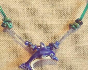 Handmade Dolphin Fetish Necklace