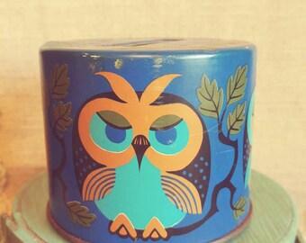 Metal Vintage Owl Bank