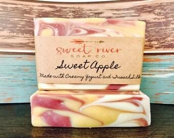 Sweet Apple Goats Milk Soap, Farm Soap, Sweet River Soap Co, Cold Process