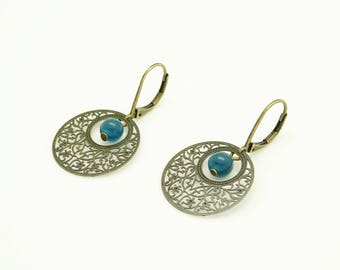 Earrings with prints and Ley