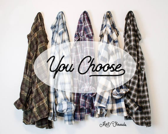 Flannel Shirt 70s 80s 90s Oversized Flannel Vintage
