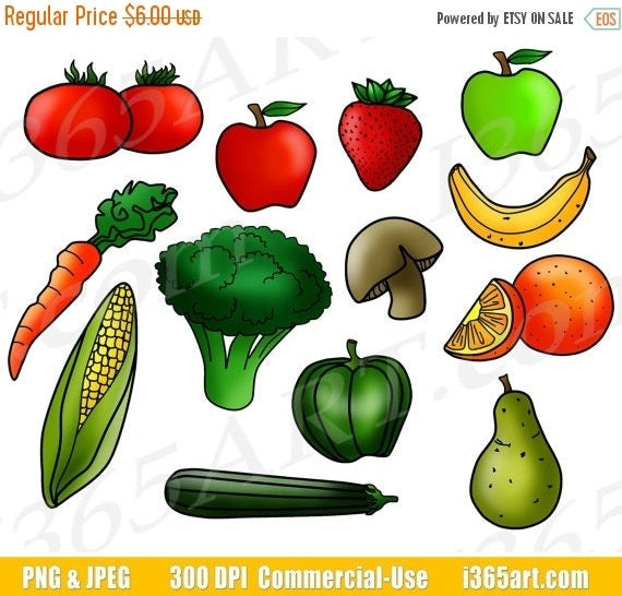 50 off fruits and vegetables clipart fruit clip art