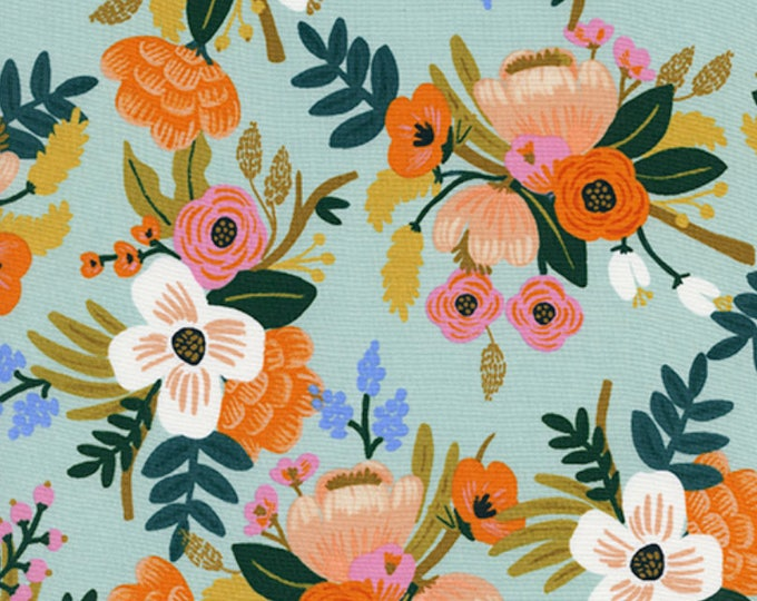 PRESALE: Lively Floral - Mint from Amalfi Collection by Rifle Paper Co. for Cotton + Steel