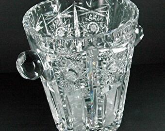 Antique American Brilliant Cut Glass Ice Bucket/Champagne Holder