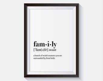 Family Definition Wall Art (Digital)
