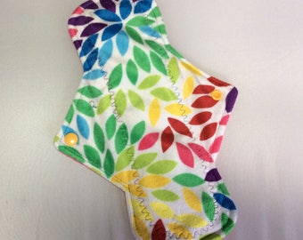 """10.25"""" Kaleidoscope  On Minky Top reusable cloth pad ( regular )"""