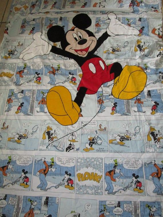 Disney Fabric Material Mickey Minnie Comic Strip Donald
