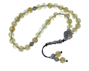 D-0113 - Worry Beads / Prayer Beads 8mm Natural Agate Gemstone Beads Handmade by Jeannieparnell