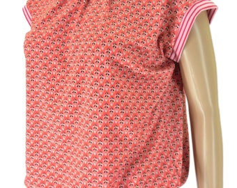 color size your patterned Jersey shirt round neckline, short sleeve