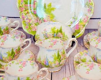 Royal Albert Kentish Rockery Tea set