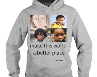 Hoodie with motivational message