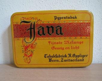 Java Pipe Tobacco Tin, R.Oppliger Bern