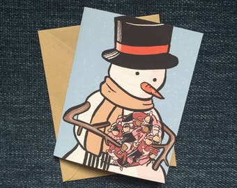 Snowman Holiday Card or Set