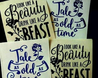 Beauty and The Beast SVG Instant Download File x 2 designs