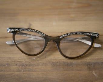Vintage Art Deco Cat Eye Glasses