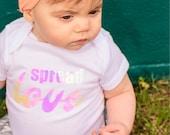 Spread Love Infant Unisex Iridescent Onesie