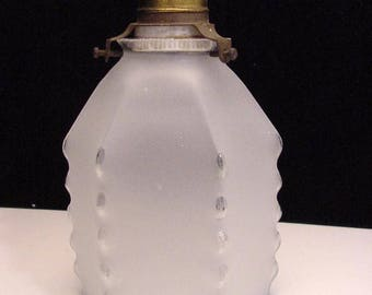 An art deco glass lampshade