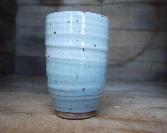 Tumbler - Handmade - Ceramic Cup - Wheel Thrown - Ceramics & Pottery - KJ Pottery