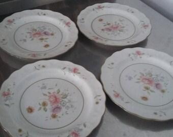 4 Royal Doulton 'Ashbourne' Tea Side Cake Plate Plates 215 mm